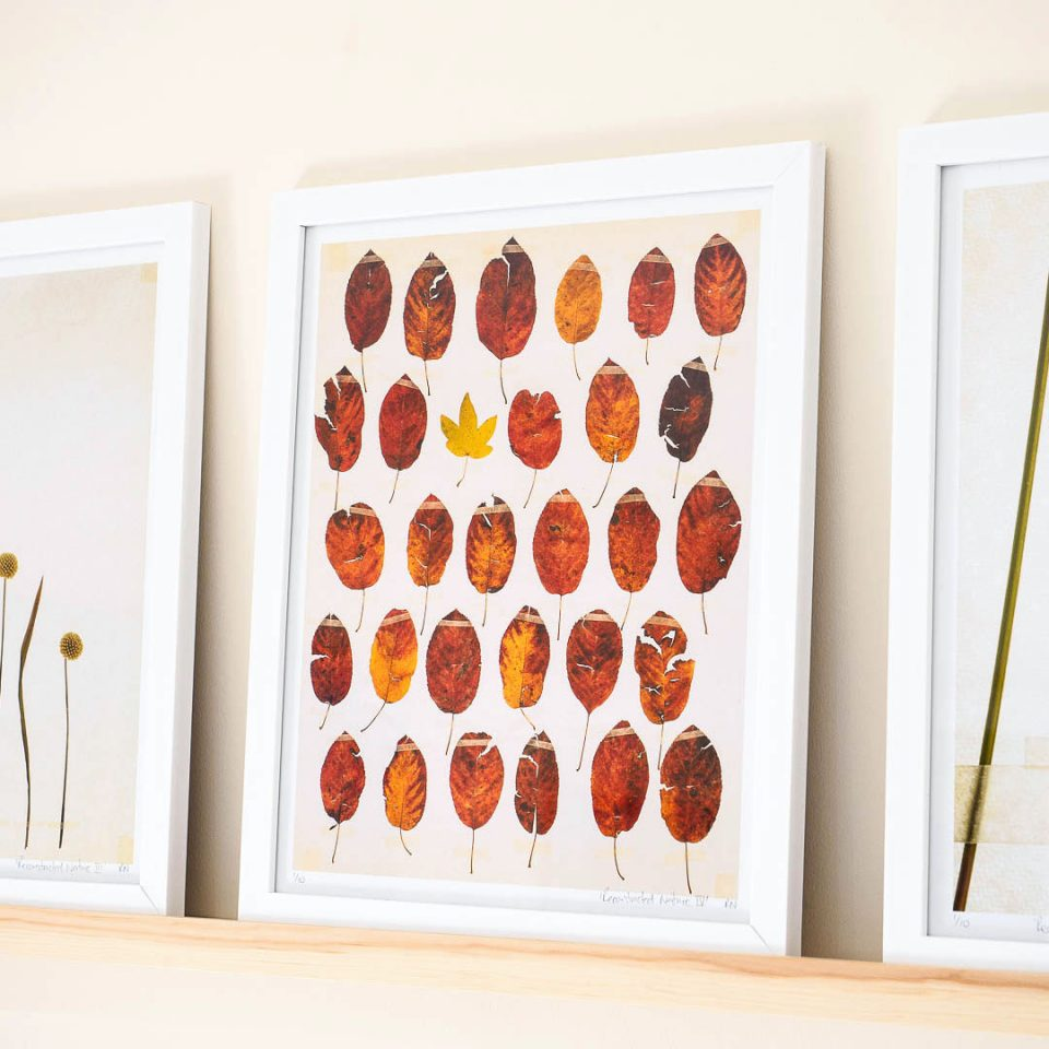 Reconstructed nature leaves