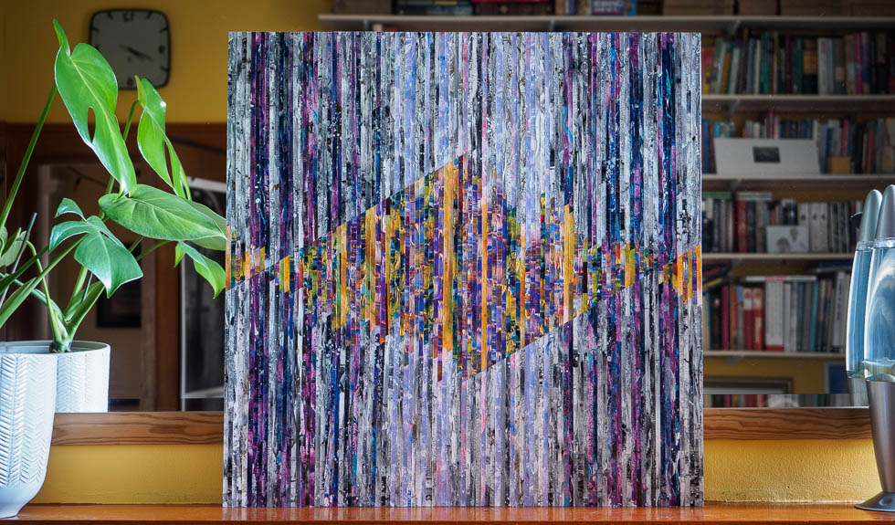 interference original acrylic abstract artwork